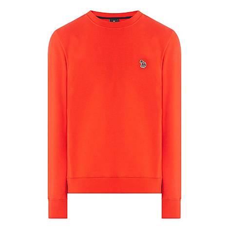 Zebra Crew Neck Sweatshirt, ${color}