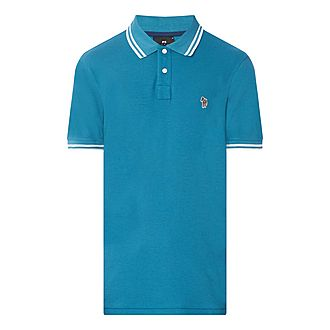 Stripe-Tipped Polo Shirt
