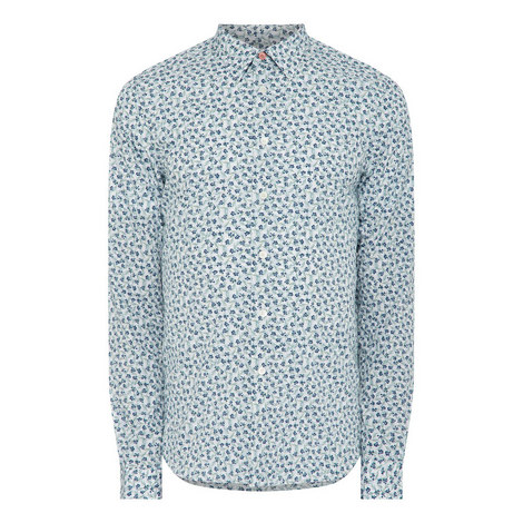 Long Sleeve Floral Shirt, ${color}