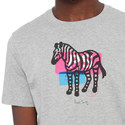 Large Zebra Print T-Shirt, ${color}