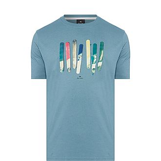Paint Stick Print T-Shirt
