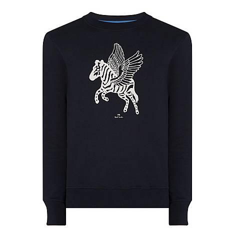 Pegasus Crew Neck Sweatshirt, ${color}