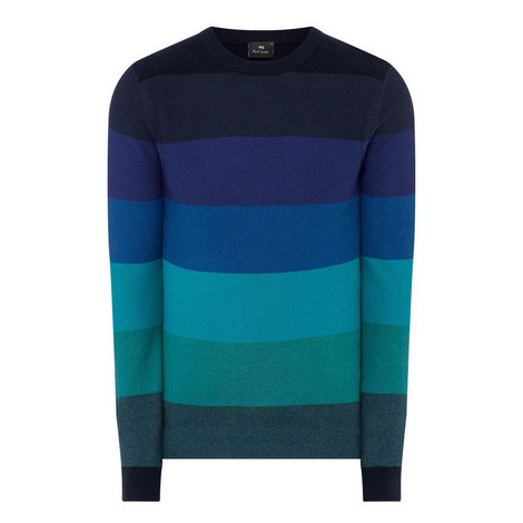 Colour Block Striped Sweater, ${color}