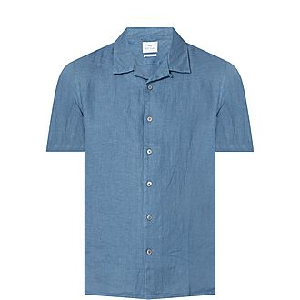 Short Sleeve Cotton-Linen Shirt