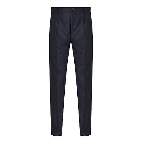 Pleated Casual Trousers, ${color}