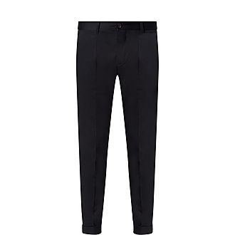 Soft Cotton Turn-Up Trousers