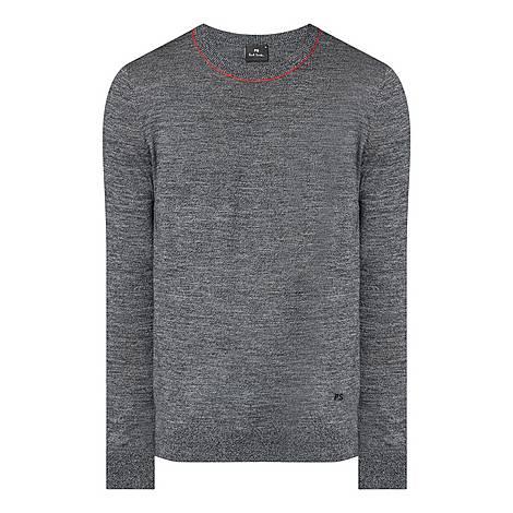 Striped Crew Neck Merino Sweater, ${color}