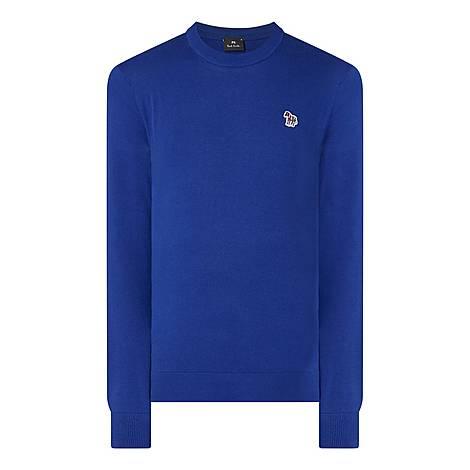 Zebra Crew Neck Sweater, ${color}