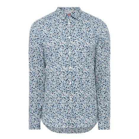 Fox Print Slim-Fit Shirt, ${color}