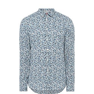 Fox Print Slim-Fit Shirt