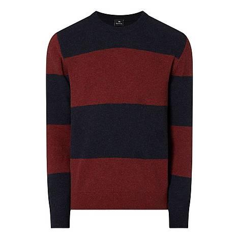 Stripe Crew Neck Sweater , ${color}