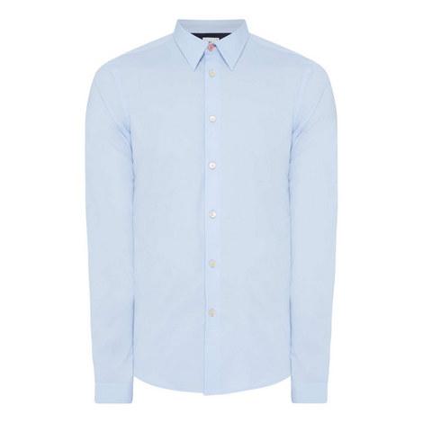 Contrast Stripe Cuff Regular Fit Shirt, ${color}