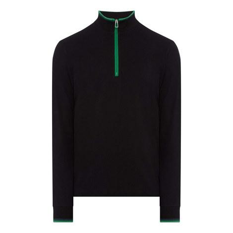 Contrast Half Zip Sweatshirt, ${color}