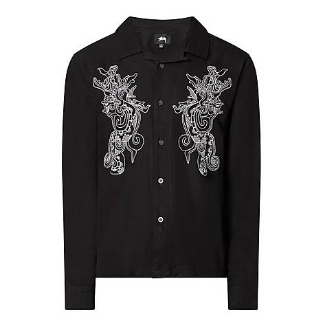 Long Sleeve Embroidered Shirt, ${color}