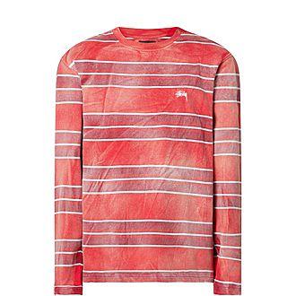 Long Sleeve Bleach Stripe T-Shirt