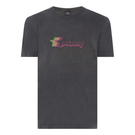 Three Star Print T-Shirt, ${color}