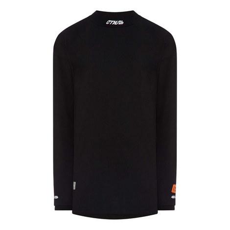 Mockneck Long Sleeve T-Shirt, ${color}