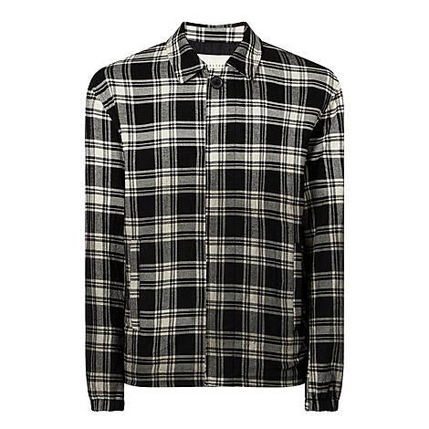 Oversized Button Plaid Shirt, ${color}