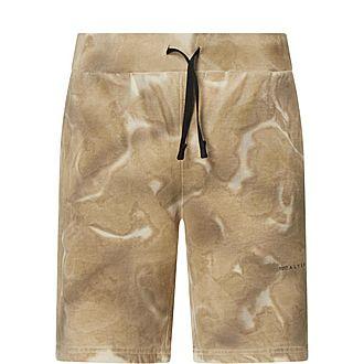 Tie-Dye Cotton Shorts