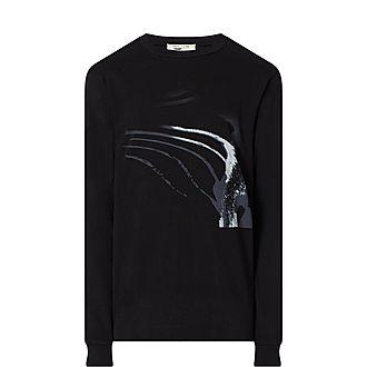 Digital Wing Print Sweatshirt