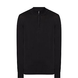 Half Zip Cotton Sweater