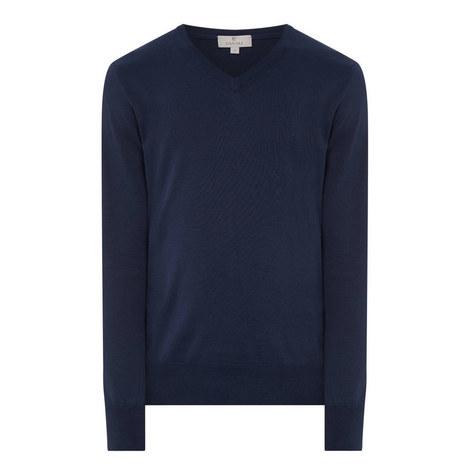 V-neck Cotton Sweater, ${color}