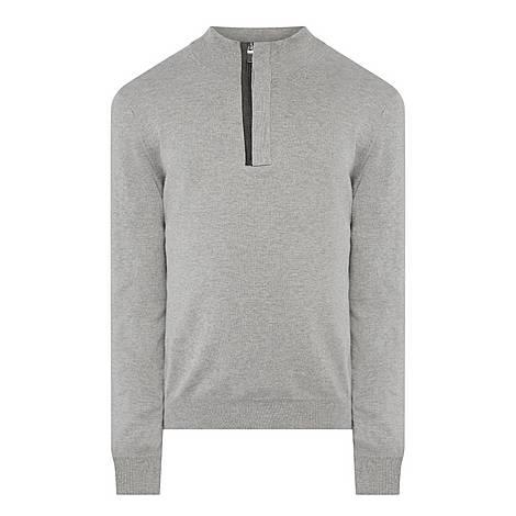 Half-Zip Trim Sweater, ${color}