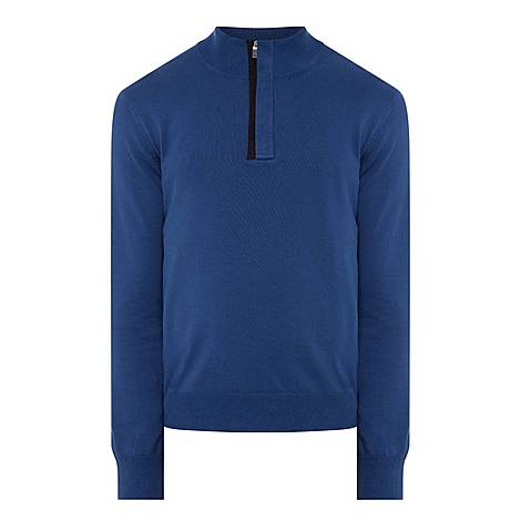 Half-Zip Sweat-Top, ${color}