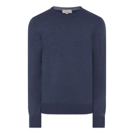 Contrast Trim Merino Sweater, ${color}
