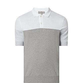 Block Knit Polo Shirt