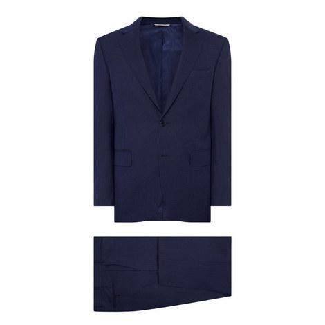 Textured Motif Drop 6 Two Piece Suit, ${color}