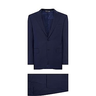 Textured Motif Drop 6 Two Piece Suit
