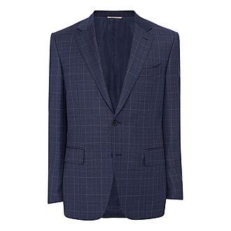 Tonal Wool Check Blazer