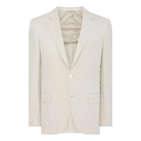 Linen Silk Blazer, ${color}