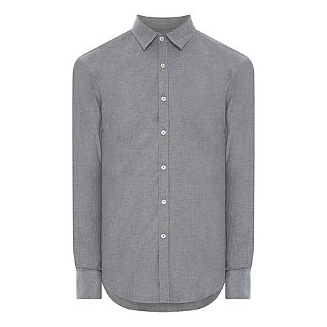 Brushed Casual Shirt, ${color}