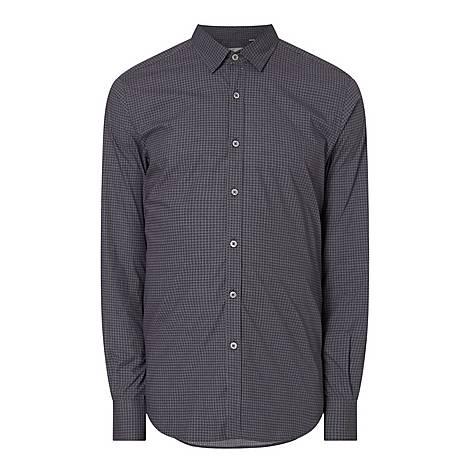Micro Print Casual Shirt, ${color}