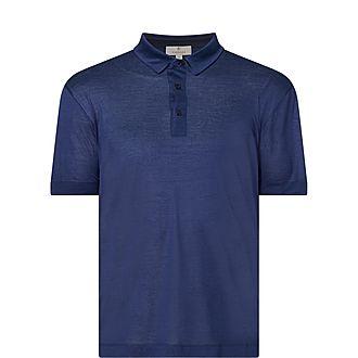 Silk Cotton Polo Shirt