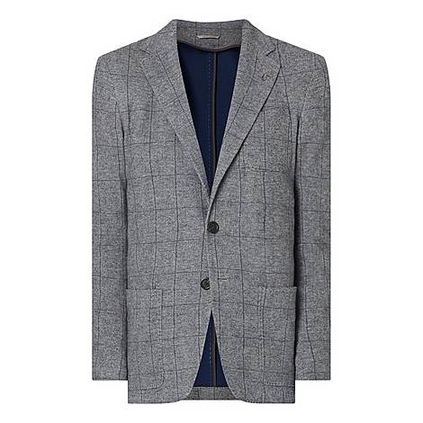 Soft Jersey Checked Jacket, ${color}