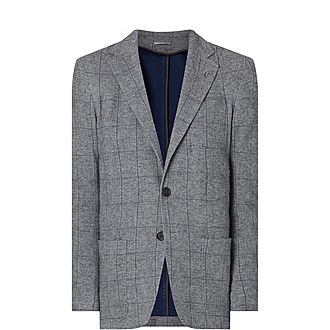 Soft Jersey Checked Jacket