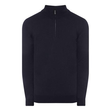 Half Zip Merino Knit Sweater, ${color}