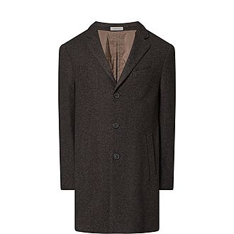 Check Lined Overcoat