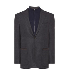Textured Removable Chest Piece Blazer