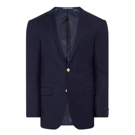 Single-Breasted Gold Button Blazer, ${color}
