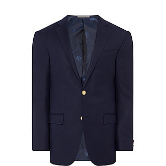 Single-Breasted Gold Button Blazer