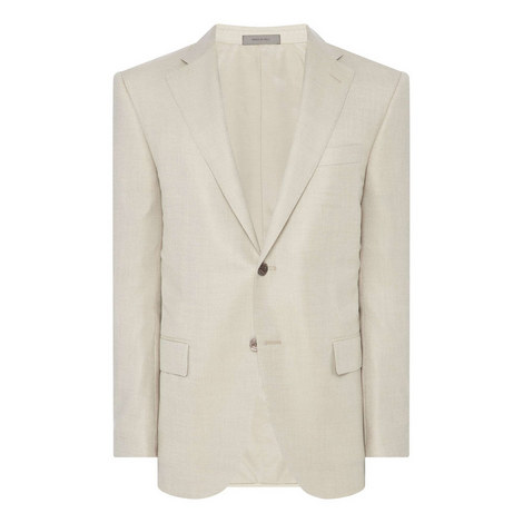 Single-Breasted Cashmere Blazer., ${color}
