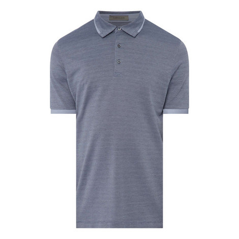 Text Silk Polo T-Shirt, ${color}
