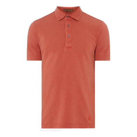 Washed Pique Polo, ${color}