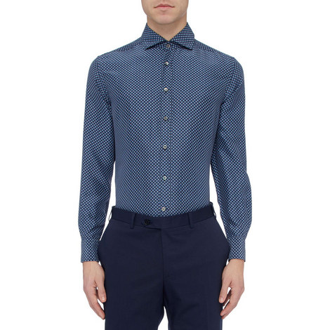 Printed Silk Shirt, ${color}