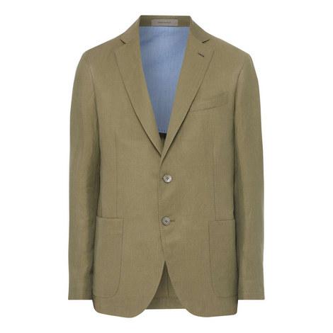 Casual Linen Blazer, ${color}