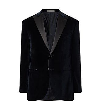 Peak Lapel Velvet Jacket